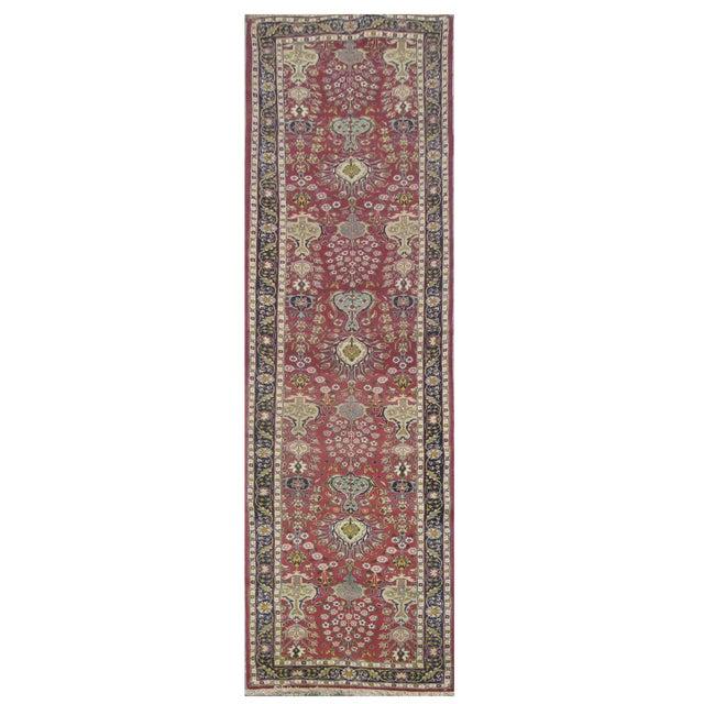 Vintage Persian Tabriz Rug - 3'3''x16'6'' For Sale