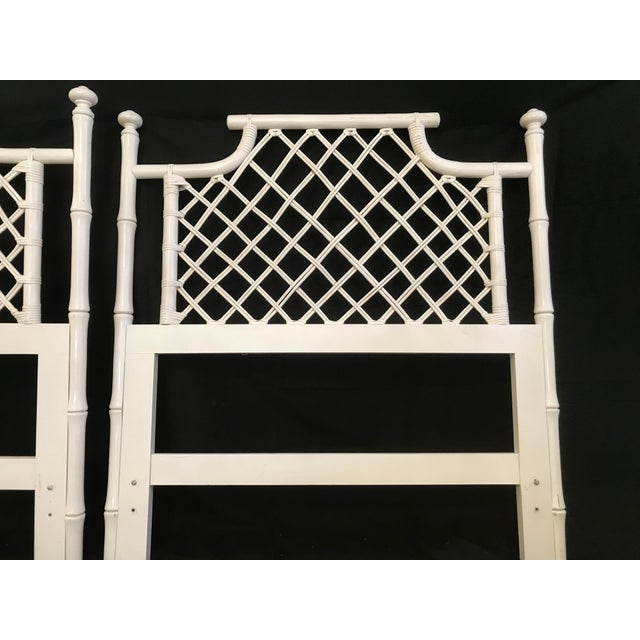 1970s Ficks Reed Twin or King Faux Bamboo Hollywood Regency Pagoda Headboards - a Pair For Sale - Image 9 of 13
