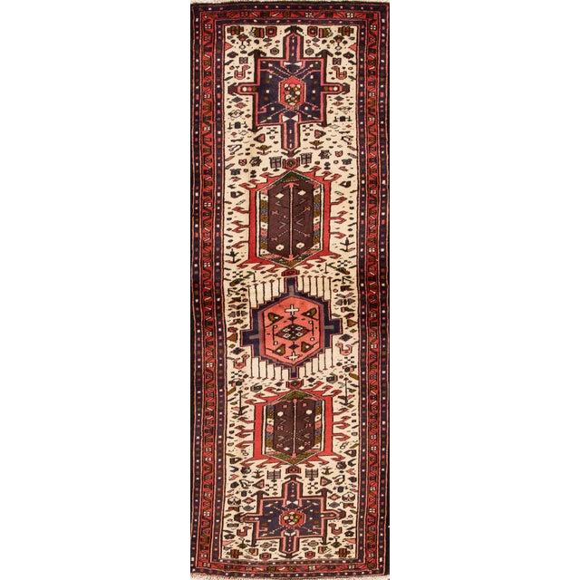 "Apadana - Vintage Persian Heriz Rug, 2'1"" x 6'7"" For Sale - Image 5 of 5"