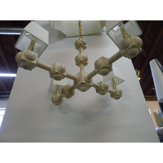 Foursquare Chandelier by Paul Marra For Sale - Image 11 of 11