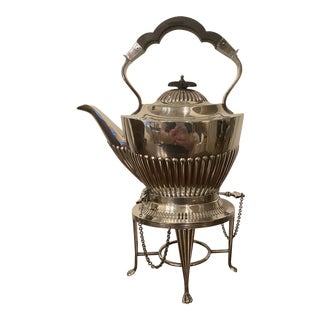 Antique Mappin and Webb Sheffield Teapot on Stand For Sale