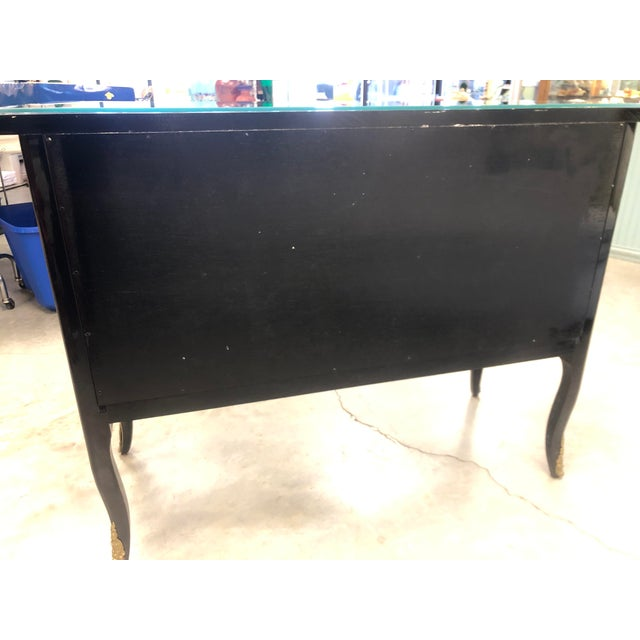 La Barge 1970s Chinoiserie Lacquered 2-Drawer Chest For Sale - Image 4 of 13