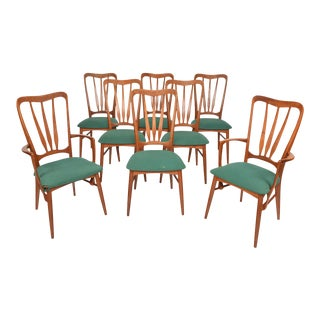 'Ingrid' Highback Dining Chairs in Teak - Set of 8 For Sale