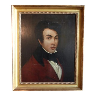 Early 19th Century Portrait of a Young Spanish Gentleman Oil Painting, Framed For Sale