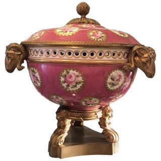 Late 19th Century Antique Louis XVI Style Mounted Potpourri Bowl For Sale