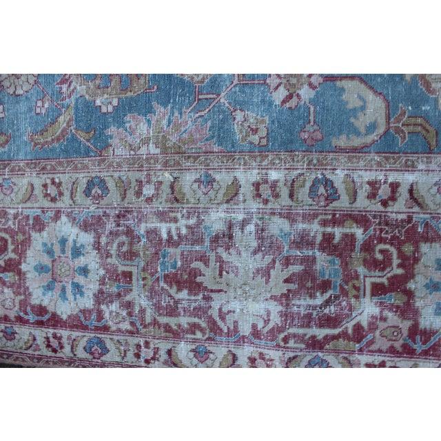 Textile Vintage Tabriz Wool Rug - 7′ × 10′1″ For Sale - Image 7 of 9