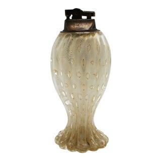 1960s Murano Glass Bullicante Lighter With Bubble Inclusions For Sale