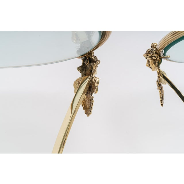 French Regency Style Brass Side Tables by Maison Jansen - a Pair For Sale - Image 9 of 11