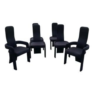 Black Italian Peitro Constantine Dining Chairs - Set of 6 For Sale