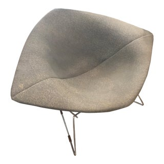1952 Knoll Bertoia Large Diamond Chair With Full Cover in Gray For Sale