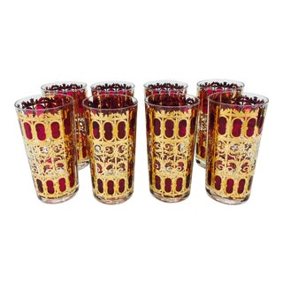 Mid-Century Culver Cocktail Glasses For Sale
