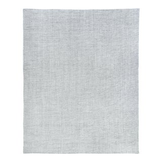 Exquisite Rugs Whitney Handwoven Wool & Viscose Silver - 14'x18' For Sale