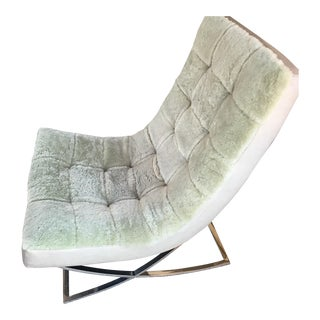 Lillian August Modern Leather & Fleece Chair