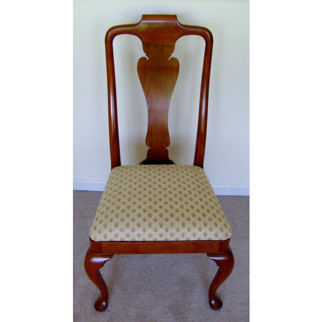 Queen Anne Style Dining Chairs by Baker - Set of 6 | Chairish