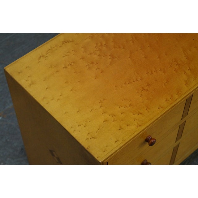 American Artech by Hickory Kaylyn Low Birdseye Maple Chest For Sale - Image 4 of 10