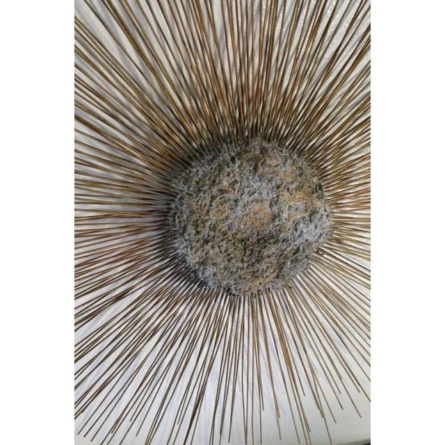 Mid 20th Century Curtis Jere Vintage Brass and Bronze Brutalist Starburst Wall Hanging For Sale - Image 5 of 9