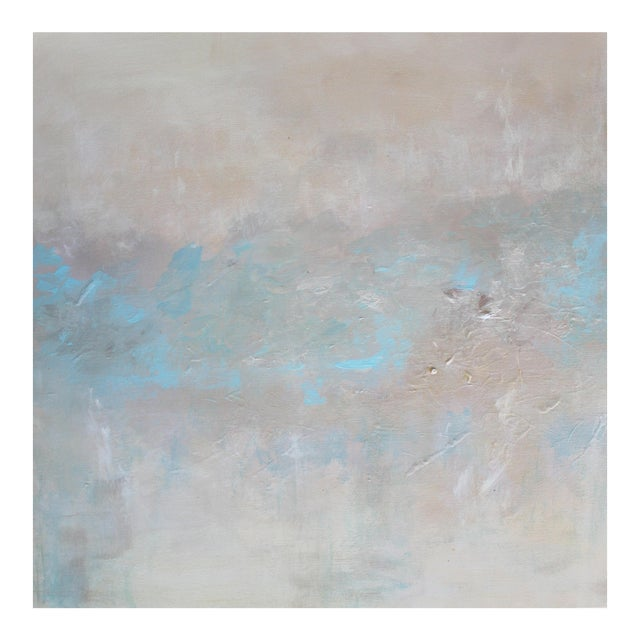 Abstract Textured Pearl Painting - Image 1 of 3
