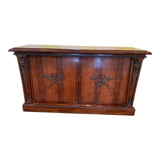 Late 19th Century Antique Mahogany Credenza, Cupboard or Cabinet For Sale