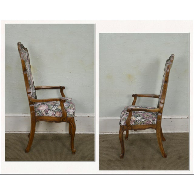 Louis XV Thomasville Vintage French Louis XV Style Set of 6 Dining Chairs For Sale - Image 3 of 12