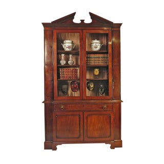 Circa 1890 Breakfront George III Style Secretary Desk For Sale