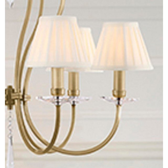 2010s Pimlico Aged Brass Chandelier For Sale - Image 5 of 6