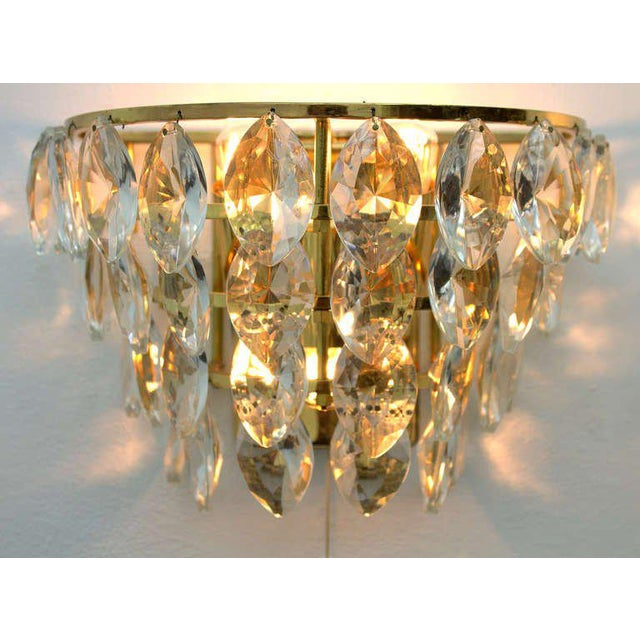 Beautiful Pair of Palwa Wall Sconces from the 1960s. 34 Crystal Glass Drops in a Lamp, four Bulbs. A beautiful Light. Very...