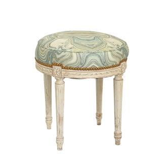 Round Louis XVI Painted Stool