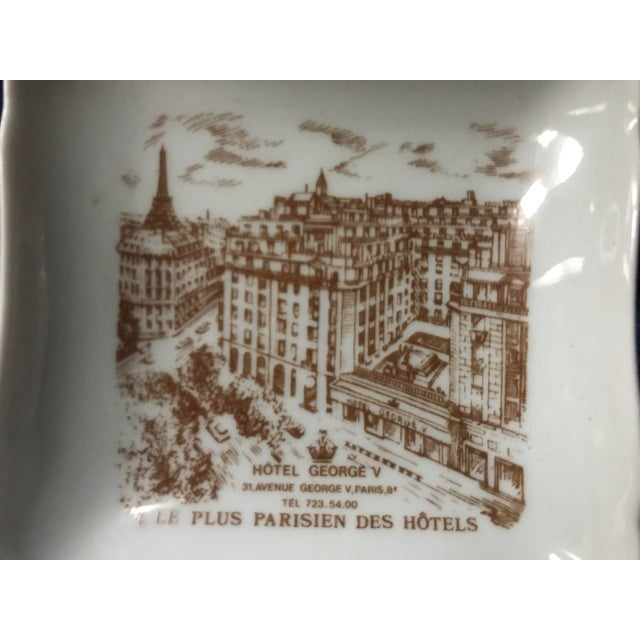 Vintage Hotel George V Bonbon Pillivuyt Ceramic Trinket Soap Dish For Sale In Saint Louis - Image 6 of 8