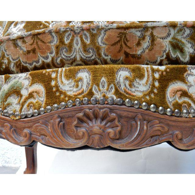 Fabric Contemporary Traditional French Ottomans With Rich Fabric Upholstery - a Pair For Sale - Image 7 of 11