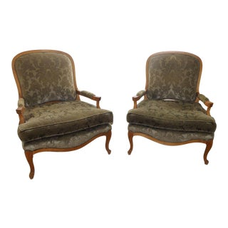 Vintage Sam Moore French Berger Arm Chairs- a Pair For Sale