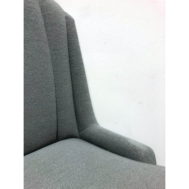Silver High-End Grey Channel Back Parsons Chairs - Pair C For Sale - Image 8 of 12