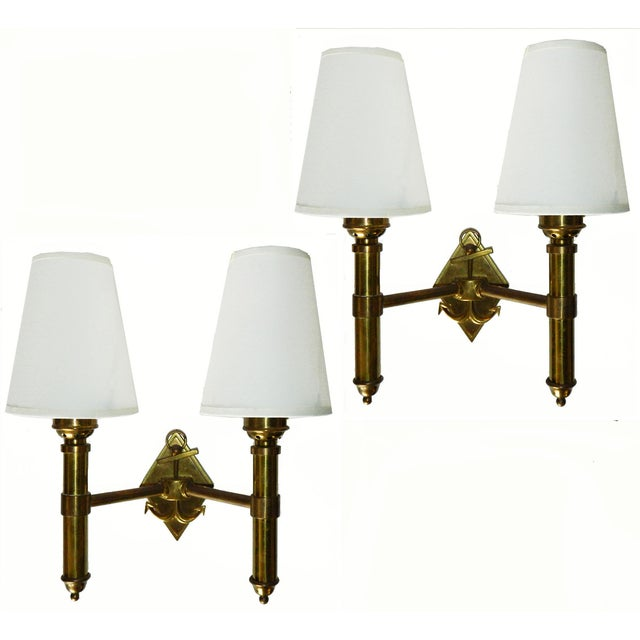 French Vintage Maison Lancel Sconces - Pair - Image 2 of 6