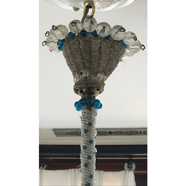 A glorious French crystal chandelier from the mid century. Please see my other listings for the matching wall sconces.