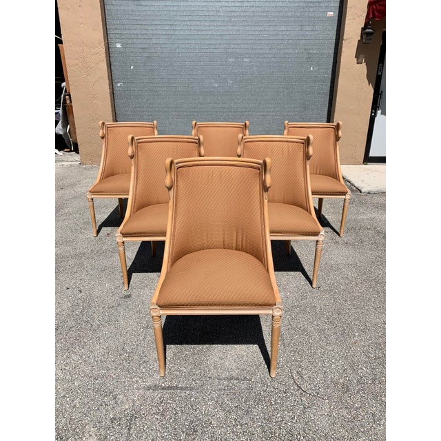 """Mid-Century Modern """"Gondola"""" Swan Neck Dining Chairs - Set of 6 For Sale - Image 13 of 13"""