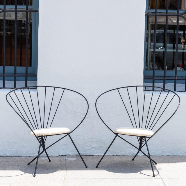 1953 Robert Kasindorf Iron Hoop Chairs - a Pair For Sale - Image 9 of 9