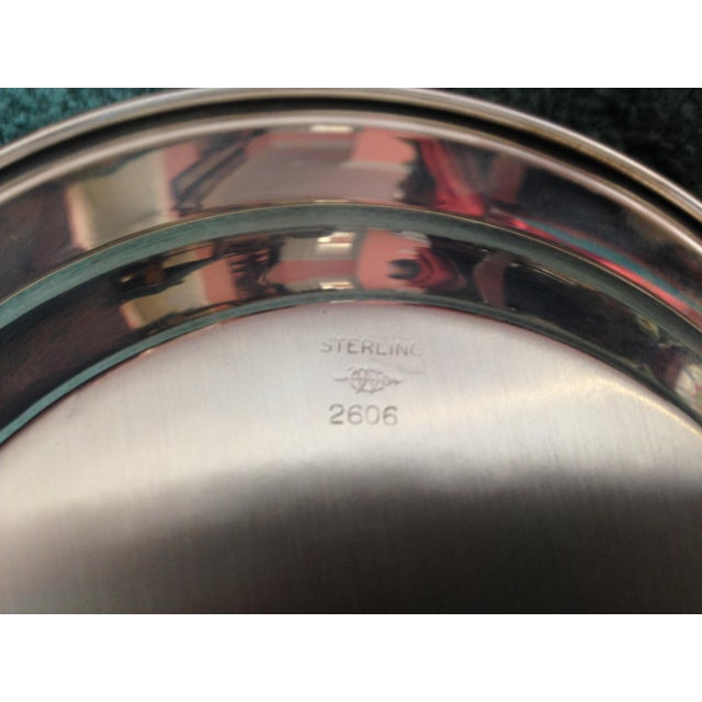 """A beautiful Webster sterling silver bowl #2606 with PRW as the monogram, 7"""" diameter, 1"""" height."""