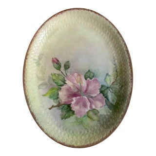 Vintage Oval Floral Serving Plate For Sale