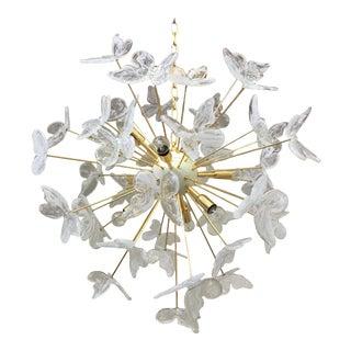 Murano Glass Butterfly Sputnik Chandelier