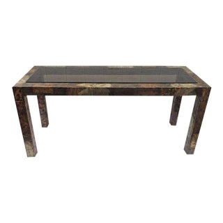 Paul Evans Mixed Metal Patchwork Table