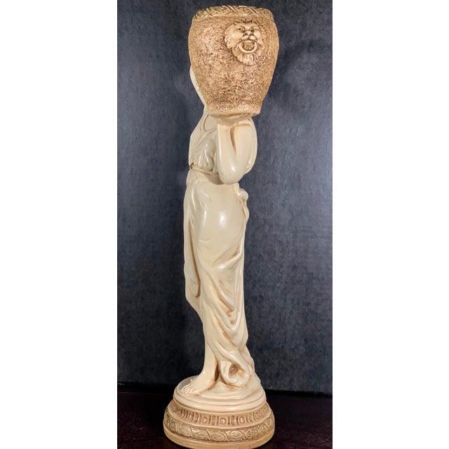 1970s Mid-Century Vintage Tall Venus W/Amphora Cachepot Statue For Sale - Image 5 of 11