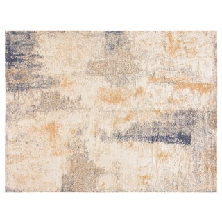 Stark Studio Rugs Contemporary New Oriental Tibetan 54% Silk /24% Wool /22% Linen Rug - 9′ × 12′ For Sale