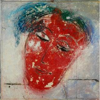 Jamali Original Artwork: Fresco Tempura: Title: The Wink For Sale