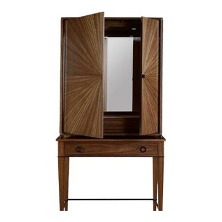 Henredon Ellington Circle Bar Cabinet