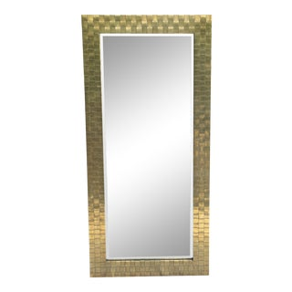 Chapman Woven Brass Mirror For Sale