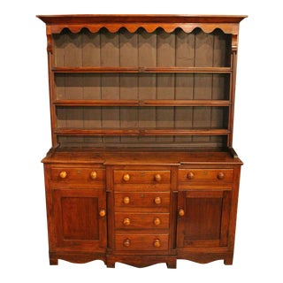 Mid-19th Century English Pine Pewter Cupboard or Dresser For Sale