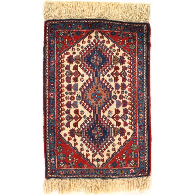 """Hand-Knotted Persian Tribal Rug - 1'10"""" X 2'11"""" - Image 2 of 4"""
