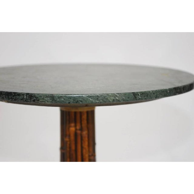 Marble Bistro Accent Table: McGuire Bamboo & Marble Bistro Table