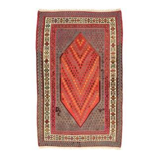 Vintage Persian Kilim Flat-Weave Rug - 06'00 X 08'08 For Sale