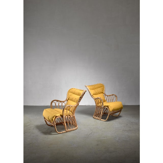 1940s Tove & Edvard Kindt-Larsen Pair of Bamboo Chairs, 1940s For Sale - Image 5 of 5