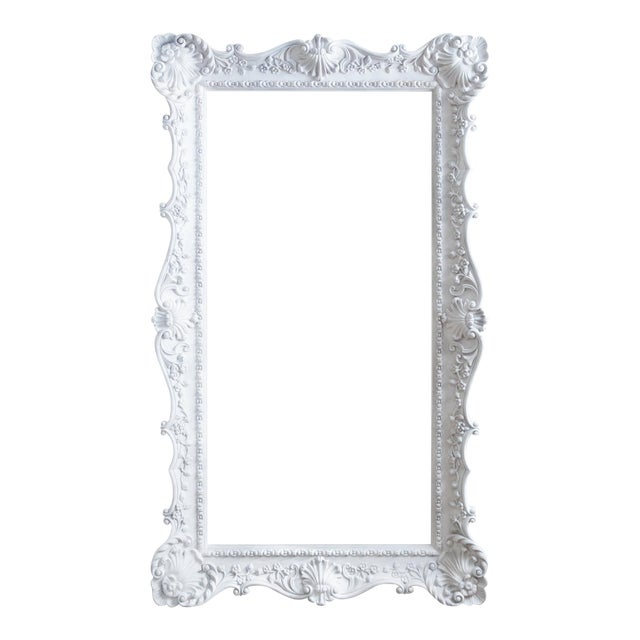 Vintage Extra Large Ornate White Picture Frame Chairish
